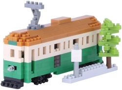 nanoblock NBH-102 - Melbourne Tram / Melbourne Tram Straßenbahn, Minibaustein 3D-Puzzle, Sights to See Serie, 290 Teile, Schwierigkeitsstufe 3, schwer