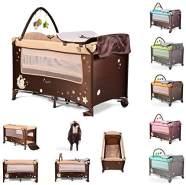 Moni Reisebett Sleepy Rollen, Wickelauflage, Matratze, Spielbogen, Seiteneingang, Farbe:blau