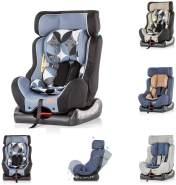 Chipolino Kindersitz Trax Neo Gruppe 0+/1/2 (0-25 kg), Leinen- und Jeansstoff, Farbe:hellblau