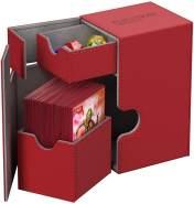 Ultimate Guard UGD010223 - Flip und Tray Deck Case 80+, Xeno Skin, Standardgröße, rot