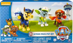 PAW Patrol 6024061 - Action Pack Pup Figuren 3er Set - Version 2 (Chase, Rocky, Zuma)