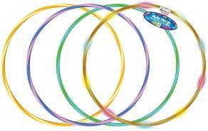 alldoro 60084 Hoop Fun Reifen Ø 60 cm, Hoopreifen mit 9 LEDs, Sportreifen für Sport, Fitness und Gymnastik, Kinderreifen mit Licht, für Kinder ab 4 Jahren & Erwachsene, 3 Farben Sortiert