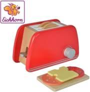 Eichhorn 100002487 - Toaster aus Holz mit Zubehör, 7-tlg., 11x19x11,5cm, Birkenholz