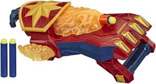 NERF Power Moves Captain Marvel Photonen-Blaster, NERF Dart-Abschuss Spielzeug für Kinder, Rollenspiel, Spielzeug für Kids ab 5 Jahren