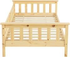 en.casa Kinderbett aus Kiefernholz mit Rausfallschutz 90x200 cm inkl. Lattenrost, natur