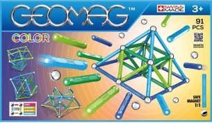 Geomag, Classic Color, 263, Magnetkonstruktionen und Lernspiele, Konstruktionsspielzeug, 91-teilig