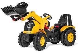 Rolly Toys Trettraktor rollyX-Trac Premium CAT (für Kinder von 3-10 Jahre, Frontlader, Flüsterreifen, Sitzverstellung) 651115