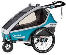 Qeridoo 'Kidgoo1 Sport' Fahrradanhänger 2020, Petrol, 1-Sitzer, inkl. luftgefülltes Buggyrad