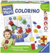 Ravensburger ministeps Colorino, Lernspiel für Kleinkinder ab 18 Monaten - So wird Farben lernen zum Kinderspiel - mit über 30 abwechslungsreichen Motiven