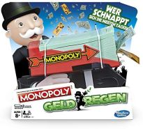 Hasbro Gaming E3037100 Monopoly Geldregen, Familienspiel mit Geldblaster, Multicolor