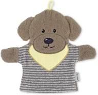 Sterntaler Spiel-Waschhandschuh Hund Hanno, Größe: 22 cm, Grau/Braun