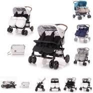 Lorelli 'TWIN' Zwillingskinderwagen schwarz