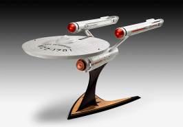 Revell 04991 USS Enterprise NCC-1701 Star Trek: The Original Series James T. Kirk originalgetreuer Modellbausatz für Einsteiger, 1:600/48,1 cm, 1/600