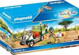Playmobil Family Fun 70346 'Zoo-Tierarzt mit Fahrzeug', 65 Teile, ab 4 Jahren