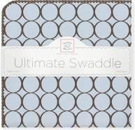 Swaddle Designs 'Ultimative' Pucktuch Poppige braune Kreise mit Pastell/Pastellblau