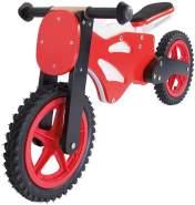 Lernlaufrad aus Holz - 12 Zoll, ab 3 Jahren - Holzspielerei Superbike, Kinderlaufrad, Laufrad Kinderrad Fahrrad (rot)