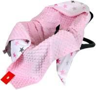 BabyLux 'Sterne' Einschlagdecke 90x90 cm, pink