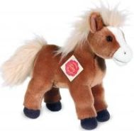 Teddy Hermann 90222 Pferd stehend hellbraun mit Stimme 25 cm