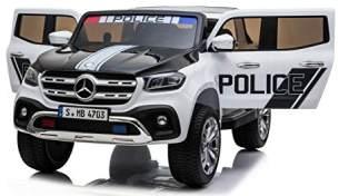 """Kinder Elektroauto Polizei Mercedes Benz X-Klasse Allrad 4x45W Wippfunktion"""