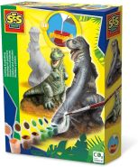 SES Creative Gipsgießset T-Rex 01283-Gipsgießset, Multi