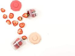 BÉABA – Set mit 12 Portionsbehältern und 2 Silikonlöffeln – Clip, stapelbare und mit Clip zu befestigende Behälter – Mit Messskala – Gefriergeeignet – 2 x 60 ml & 4 x 120 ml & 6 x 200 ml – Rosa