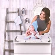 LULANDO Kapuzenbadetuch Kapuzenhandtuch Badetuch Bademantel Kapuzentuch aus Frottee (80x100 cm). Warmes und kuscheliges Frotteebadetuch für Babys und Kleinkinder inkl. Waschlappen
