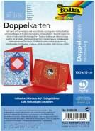 "Glorex Doppelkarten 10,5 x 15 cm"" ""hochrot, 5 Stück"""""