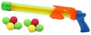 Jamara 460313 - Mc Fizz Fizzy Balls grün - 2 in 1 Wasserpistole mit Softbällen, Wasser spritzen oder Bälle schießen, Pumpsystem, leicht zu bedienen, Spritzreichweite ca. 7 m - Ballreichweite ca. 9 m