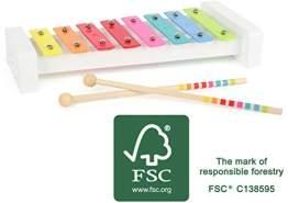 Small Foot 11117 Xylophone Sound, aus Holz, FSC100%-Zertifiziert, Musikinstrument für Kinder, mit Musiknoten Spielzeug, Mehrfarbig