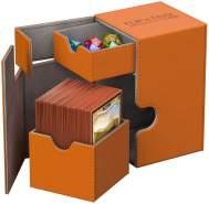 Ultimate Guard UGD010780 Box Flip´n´Tray Deck Hülle 80 Plus XenoSkin, Orange, Standardgröße