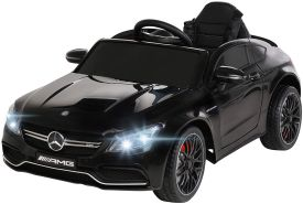 Kinder Elektrofahrzeug Mercedes C63 Kinderauto Elektro Kinderfahrzeug Spielzeug (Schwarz)