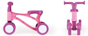Lena 7166 Lauflernroller My First Scooter, Laufrad, Sitzroller mit Stahlachsen, Lauflernrad zum Balance und Laufen trainieren, Lauflernhilfe Roller für Kleinkinder ab 18 Monate, pink/rosa