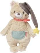 Fehn 060225 Kuscheltier Bär – Weiches Stofftier zum Greifen, Fühlen und Knuddeln – Für Babys und Kleinkinder ab 0+ Monaten – Größe: 25 cm