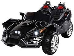 Kinder Elektroauto GT Super Speed Allrad Kinderauto Elektrofahrzeug Zweisitzer (Schwarz)
