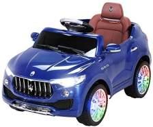 Kinder Elektro Auto MASERATI LEVANTE SUV Kinderauto Elektrofahrzeug Elektroauto (Blau)