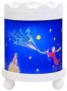 Trousselier - Der kleine Prinz - Nachtlicht - Magisches Karussell - Ideales Geburtsgeschenk - Farbe Holz weiß - animierte Bilder - beruhigendes Licht - 12V 10W Glühbirne inklusive - EU Stecker