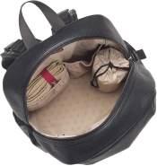 Babymel BM4492 Luna Windelrucksack aus veganem Leder, Reiserucksack, großes Fassungsvermögen, vegan, schwarz