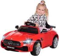 Kinder Elektroauto Mercedes AMG GT-R lizenziert Kinderauto Elektro Auto GTR (Rot)