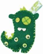folia 50106 - Mini Monster Freunde, 63 Teile zum Erstellen von 8 Monsterfreunden