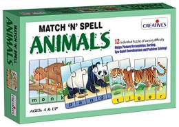 Creative Educational School Match-n-Spell Tiere
