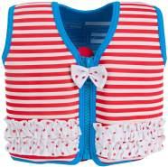 The Original Konfidence Jacket Schwimmlernhilfe für Kinder 4-5 Jahre, Marthas Red Stripe Frills