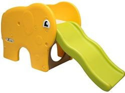 Kinderrutsche Elefanten Kinder Rutsche extra breite Stufen Wellenrutsche Gartenrutsche Babyrutsche
