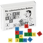 Bartl 107607 Mini-Holz-Puzzle Die salomonischen Reihen aus 16 farbigen Zahlenplättchen aus Holz