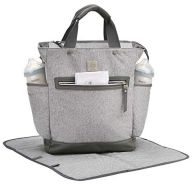Ergobaby Baby Wickeltasche und Wickelruckruck Grau Multifunktional Wasserabweisend inkl. Wickelunterlage für Unterwegs Abwaschbar