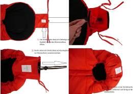Kaiser Naturfelle 6570833 - Fußsack 'Iglu Thermo Fleece', Farbe: rot, universell einsetzbar