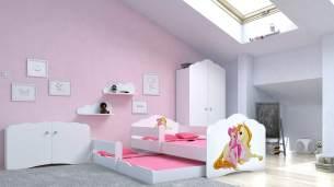 Angelbeds 'Fala' Kinderbett 80x160 cm, Motiv 5, inkl. Flex-Lattenrost, Schaummatratze und Schubbett