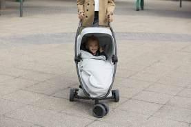 Quinny Zapp Xpress Buggy, kompakt zusammenfaltbar, leicht und komfortabel, mit Relax-Position, grau