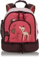 LÄSSIG Kinder Mini Rucksack mit Brustgurt, 4,5L , Rosa (Little Tree Fawn)