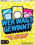 Mattel Games - GTH21 Wer wagt, gewinnt Kartenspiel und Familienspiel, geeignet für 2 - 4 Spieler, Kartenspiele und Familienspiele ab 7 Jahren