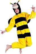 Boland 88214 Kinderkostüm Honigbiene aus Plüsch, schwarz, 140